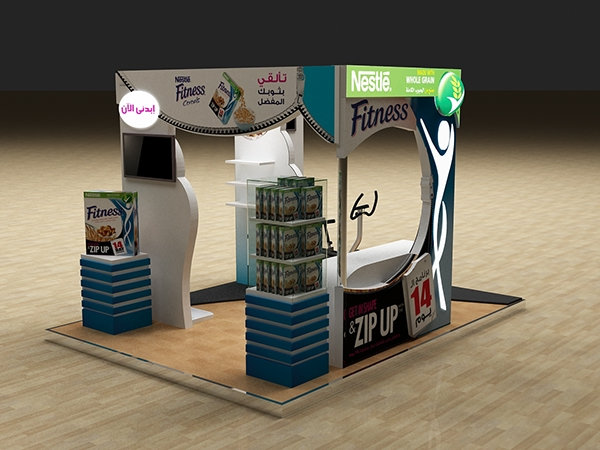Nestle Exhibition Booth : Nestle fitness booth aprroved on behance