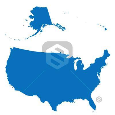 Mark StayStock Portfolio - Usa map including alaska