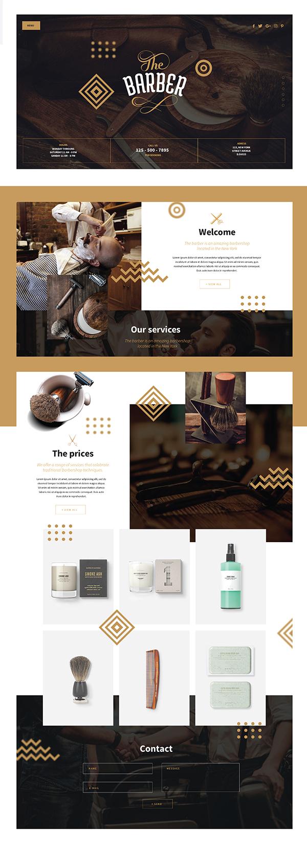 barber shop template psd download on student show. Black Bedroom Furniture Sets. Home Design Ideas
