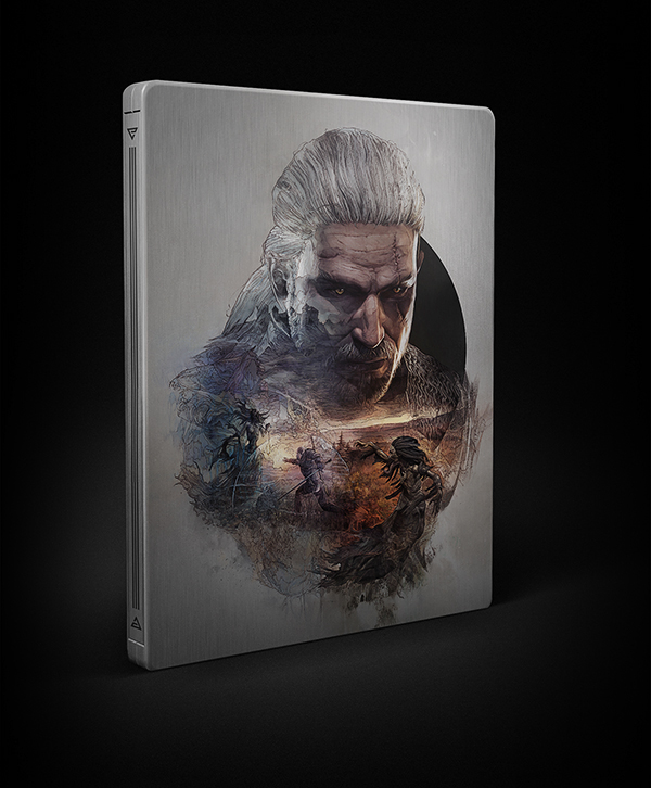 Witcher 3 wild hunt StudioKxx Domaradzki Steelbooks geralt yennefer Siri video game cover