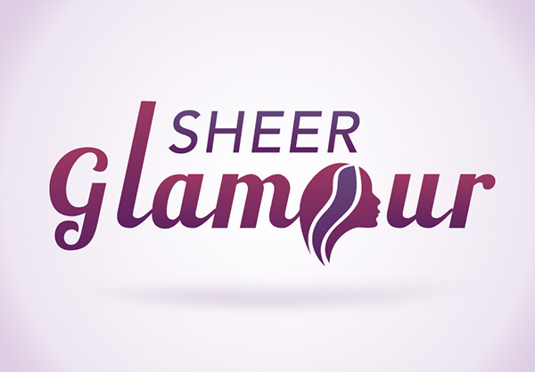 sheer glamour logo on behance