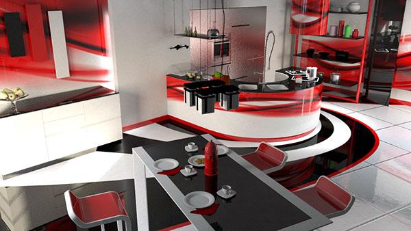 Kitchen epoxy floors and tiles on Behance