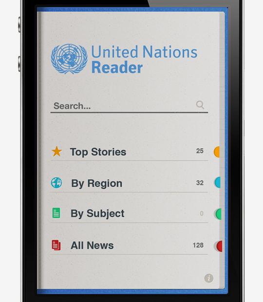 mobile app iphone Icon NGO United Nations un