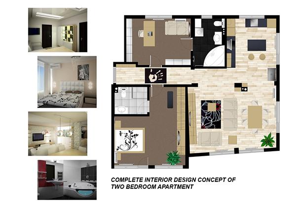 2 bedroom apartment interior design ideas image for 2 bedroom apartment exterior design