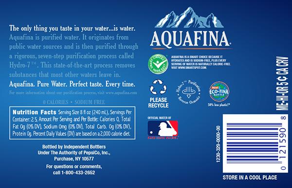Aquafina Packaging Re Design On Behance