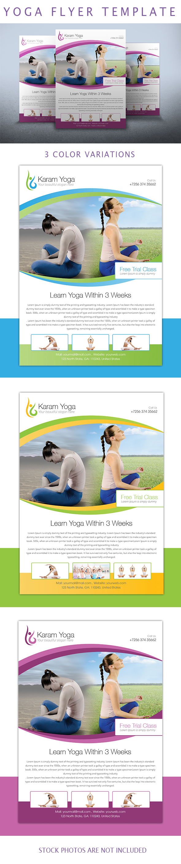 Simple Yoga Flyer Template On Student Show