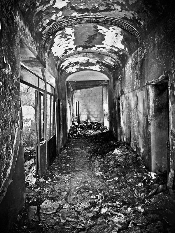 abandoned asylum black and white Empty Space lost forgotten art romina diaz  romina diaz