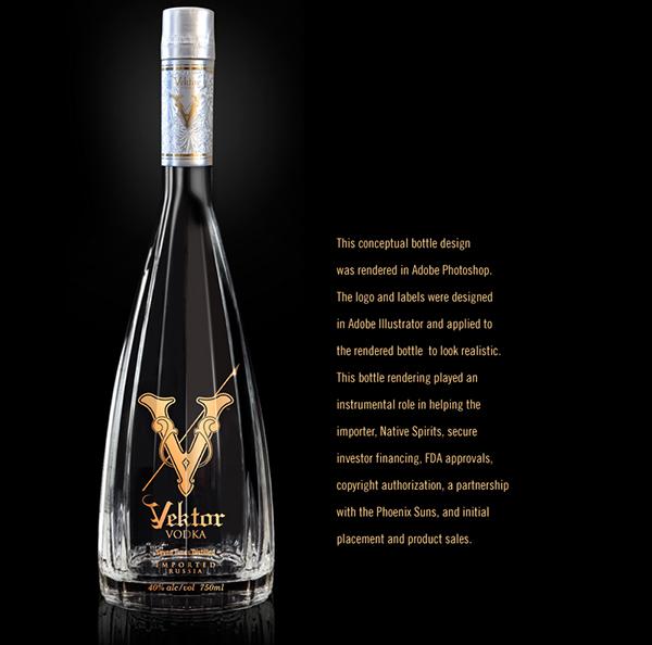 Vektor Vodka Vodka bottle design Spirits liquor
