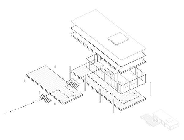 The farnsworth house on behance for Case mies van der rohe