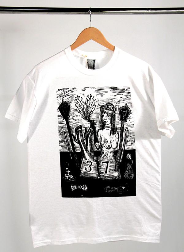 screen print  t-shirt brand woodcut