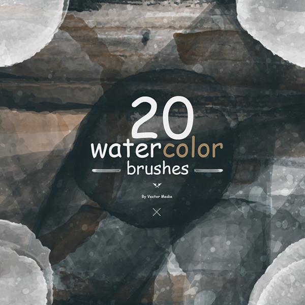 高質量的12款photoshop水彩效果筆刷欣賞