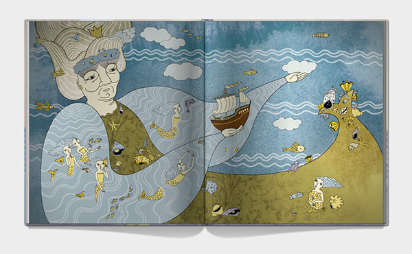 book chindren The Little Mermaid Hans Christian Andersen Bons sea boat prince witch publication