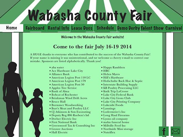 Wabasha County Fair Website on Behance