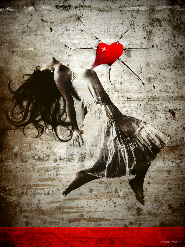 role heart Love lust red woman
