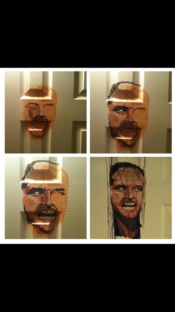 Painting bathroom doors