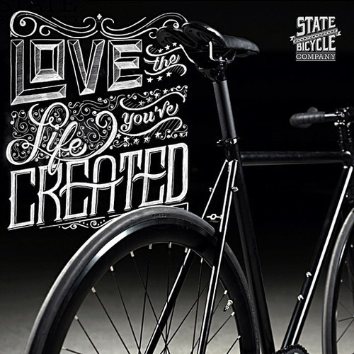 illustrate State Bicycle Co state bike State BIcycle lettering hand-lettering monday motivation Ps25Under25
