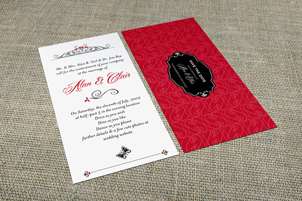 Dl invitation card mock up on behance show your card design with style create a realistic dl invitation card mock up in few seconds these psd files uses the smart object feature stopboris Image collections