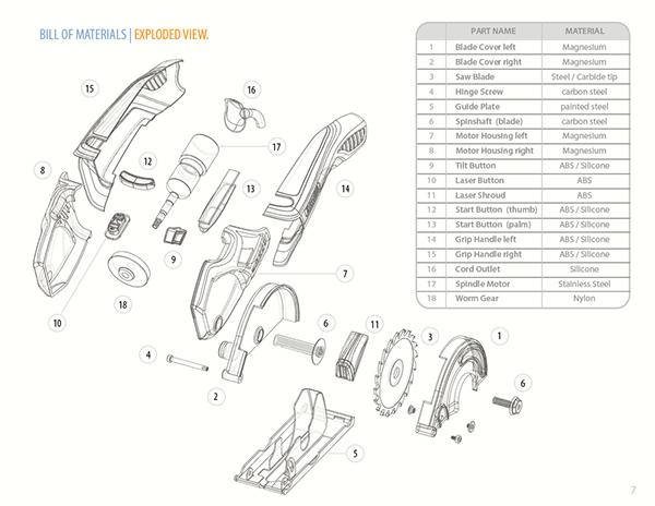 电锯设计草图+方案欣赏