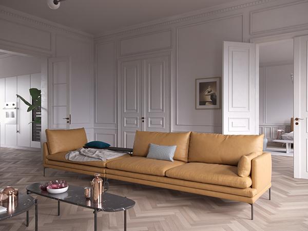 French apartment with italian interior on behance - Interior design italia ...