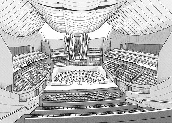 Concert hall interiors for IQ-Intel on Wacom Gallery