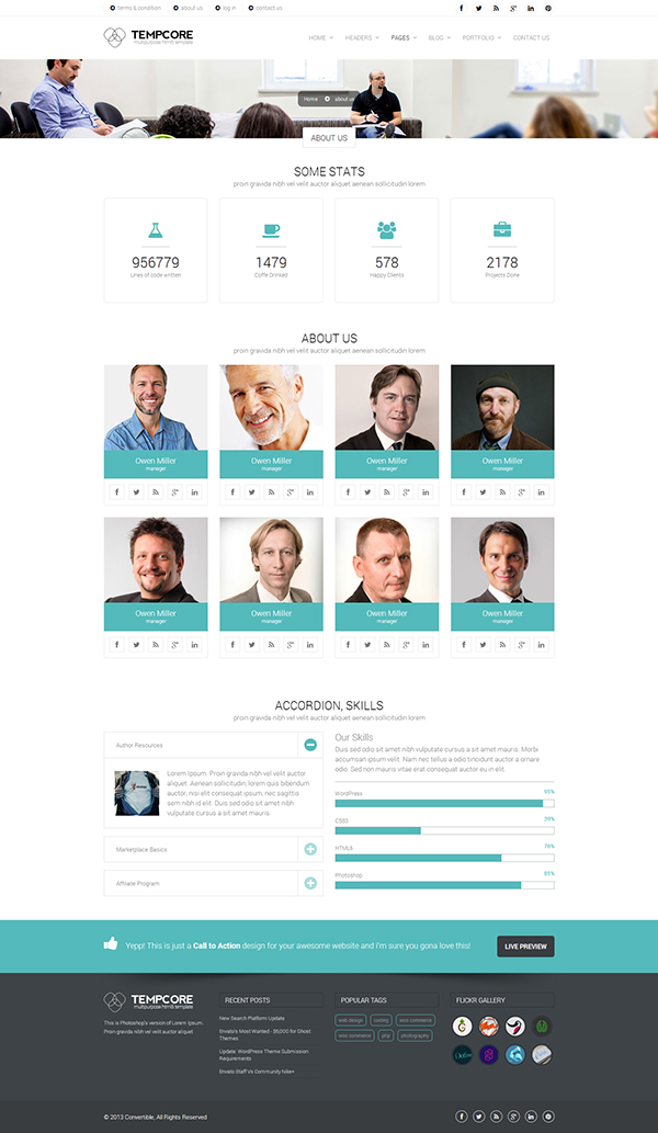 Tempcore business html5 template on behance tempcore business html5 template friedricerecipe Gallery