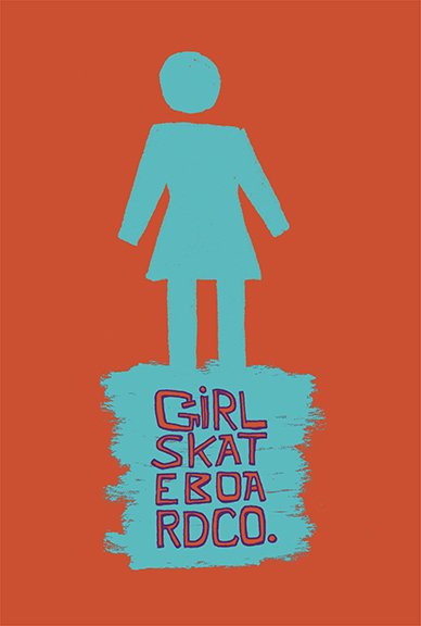 girl skateboards board graphic on behance
