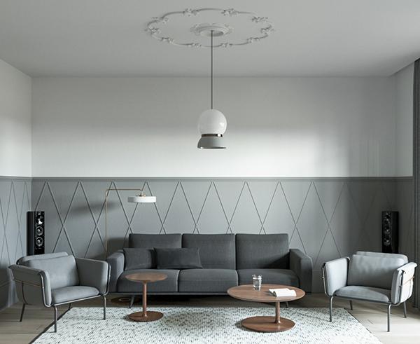 極美的20款客廳主牆顏色欣賞