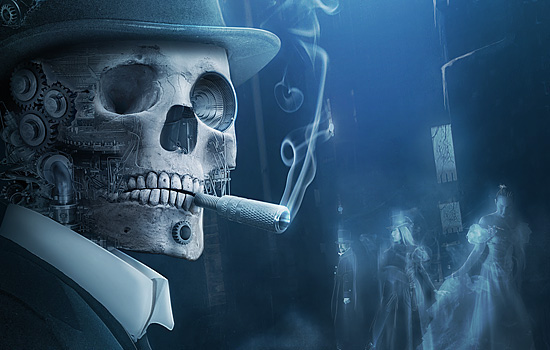 snow ice cold French hat old London memories skull skeleton squelette White blue slash three s3 aiven ghost