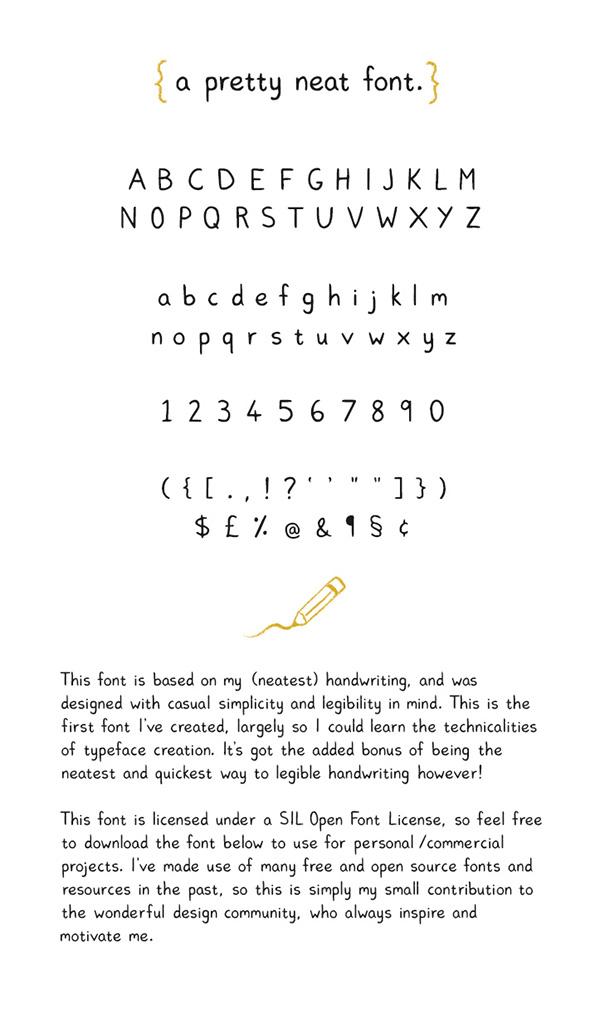 Pretty Neat Free Font On Behance