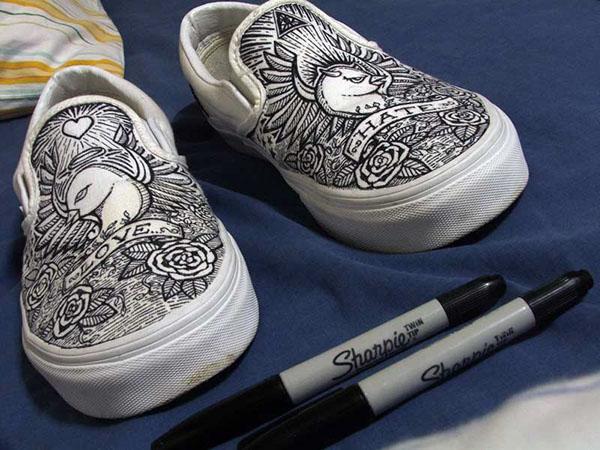 shoe drawings on behance