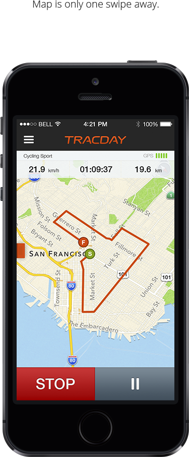 Download Tracday app on the Apple Appstore