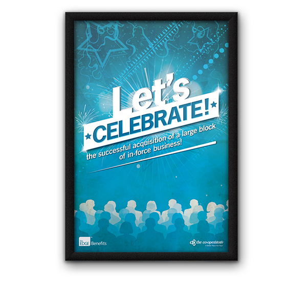 Poster Announcement - Celebrate New Business on Behance