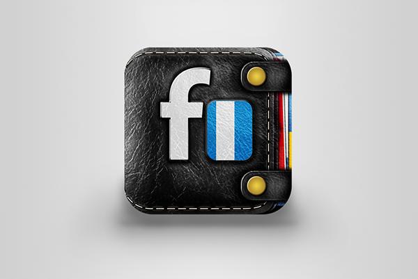 WALLET  iOS  icon  banking Bank money black leather
