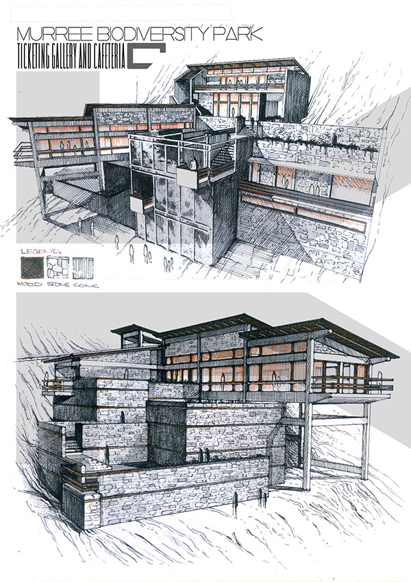 Professional architecture portfolio on art center gallery for Professional architect