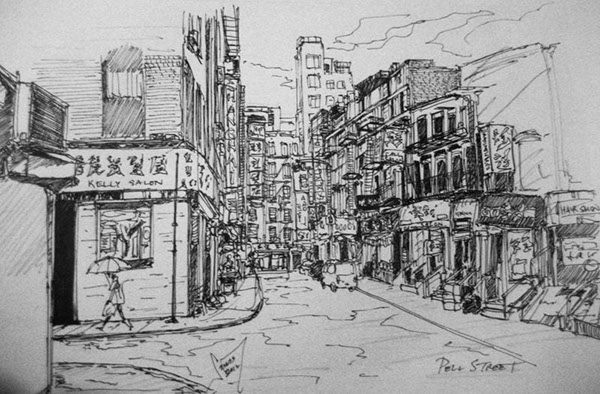 Line Drawing Nyc : Ink drawings of new york city on behance
