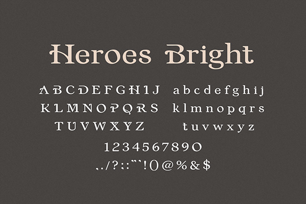 Heroes Bright - Font