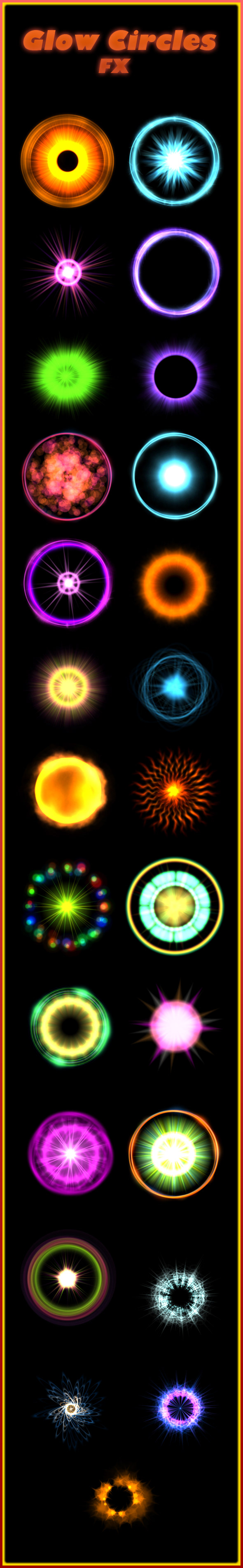 glow circle Game Art Sprite sheets animation  effects particles