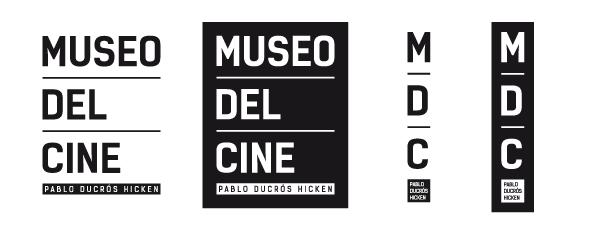 museo cine marca identidad arquigrafía señaletica Gabriele uba identity brochure flyer Signage Web Website