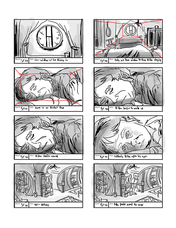 The Hobbit FanMade Storyboards On Behance
