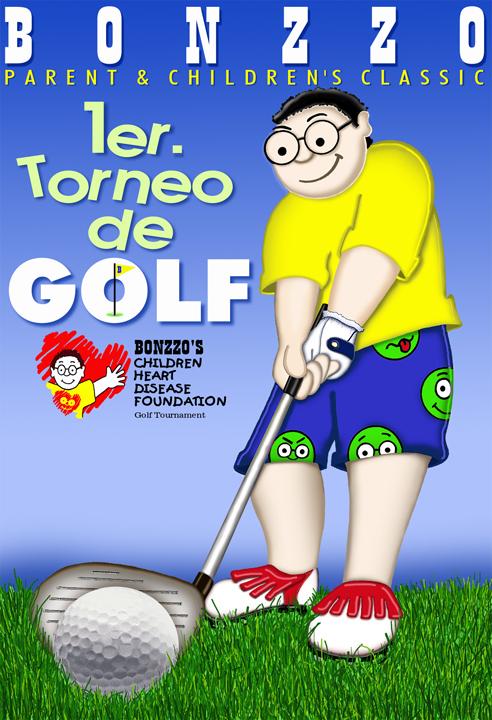 BONZZO bogzzy John Rivas cartoon cartoon character golf art museum digital art work puerto rico usa