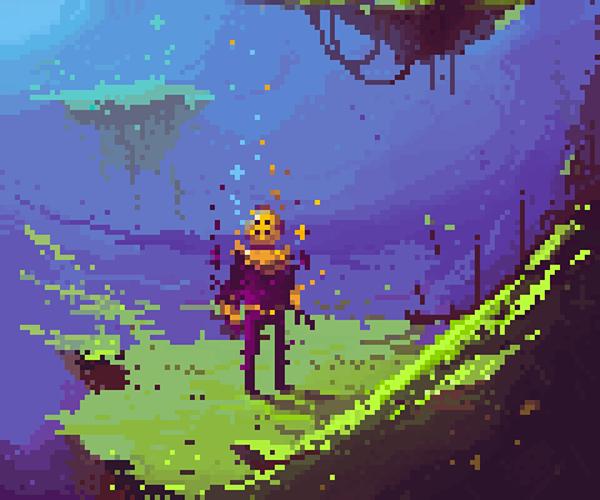 Pixel art pixels