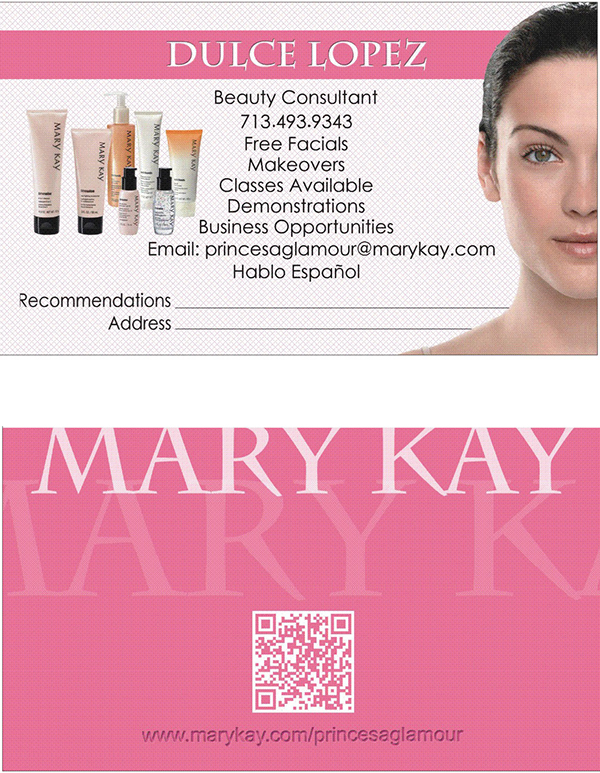 Mary Kay Business Card on Behance