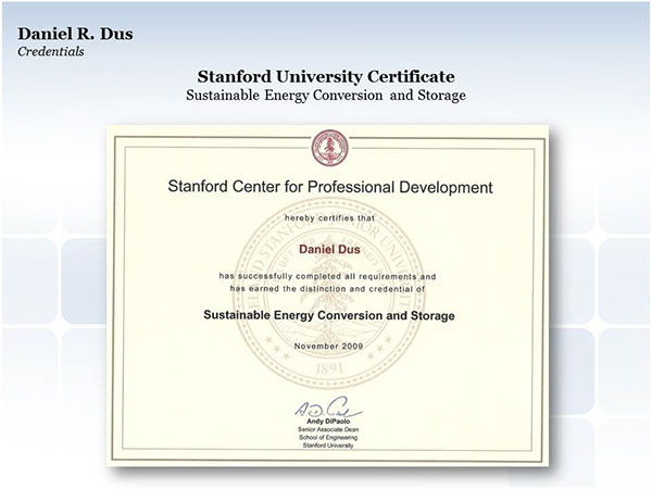 Stanford University Certificate: Sustainable Energy on Behance