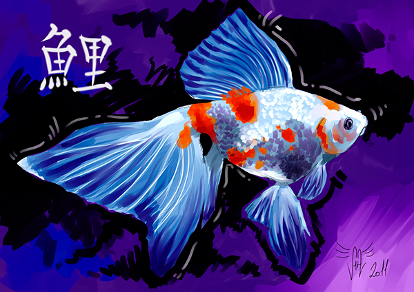 Peces de acuario on pantone canvas gallery for Peces de acuario