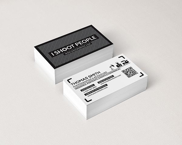 black business card camera CMYK corporate creative design graphic horizontal modern personal photographer photoshop psd respinarte