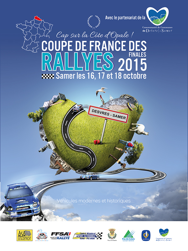 D pliant touristique coupe de france de rallye 2015 on behance - Calendrier coupe de france des rallyes 2015 ...