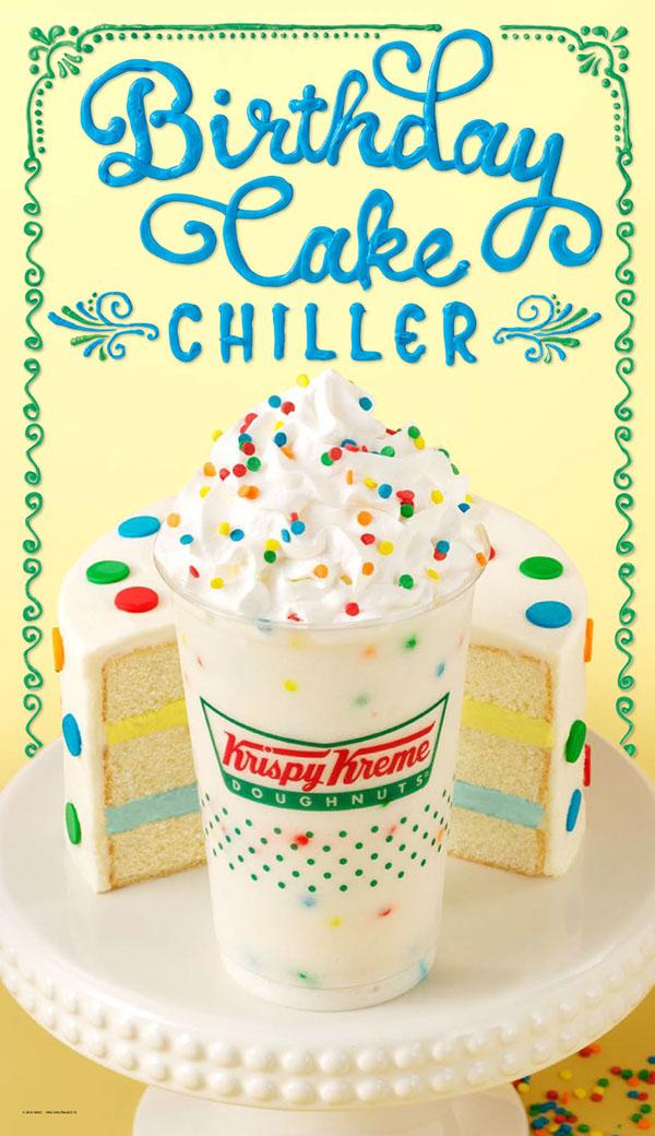 Marvelous Krispy Kreme Birthday Cake Chiller On Pantone Canvas Gallery Funny Birthday Cards Online Alyptdamsfinfo