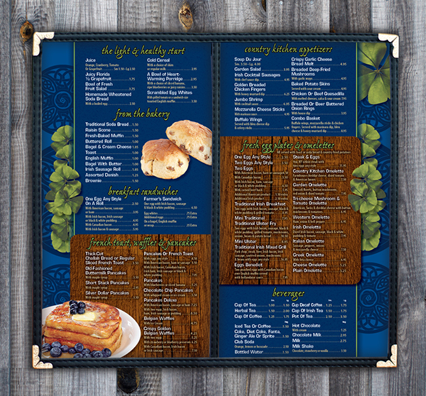 Eileen's Country Kitchen Menu On Behance