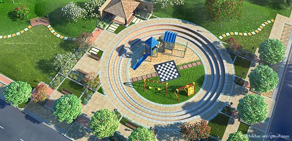 Villa Landscape Visualization   3D Architectural Walkthrough   Ifthikhar