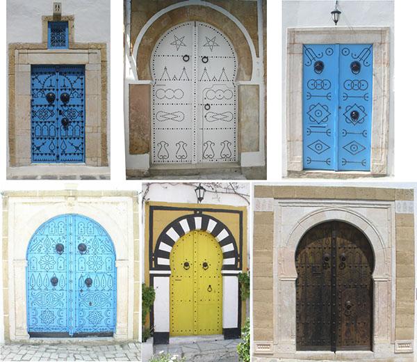 Illustration porte sidi bousaid tunisie on behance for Decoration porte sidi bou said